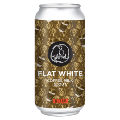 Flat White Coffee Milk Stout NITRO - 8 Wired
