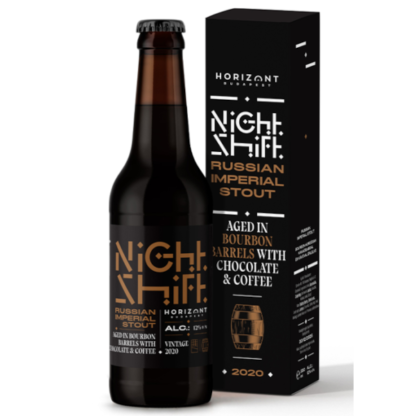 Night Shift Vintage 2020 Russian Imperial Stout Aged in Bourbon Barrels with Chocolate & Coffee - Horizont