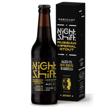 Night Shift Vintage 2020 Russian Imperial Stout Aged in Bourbon Barrels - Horizont