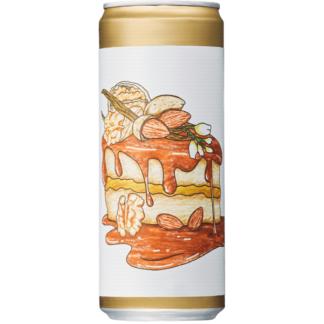 Almond Walnut Vanilla Caramel Cake - Brewski