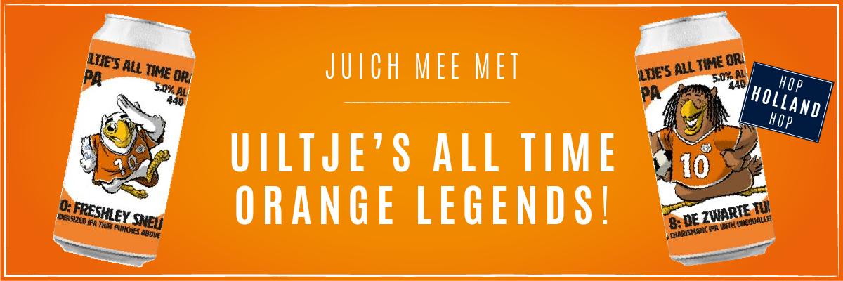 Juich mee met Uiltje's All Time Orange Legends